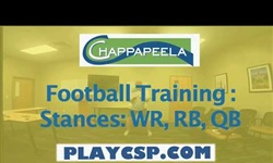 Football Training: Stance: WR, RB, QB